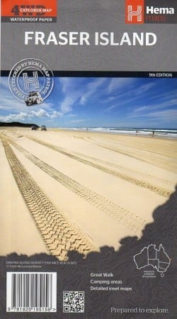 A.B.C Maps Fraser Island 9th Edition Hema