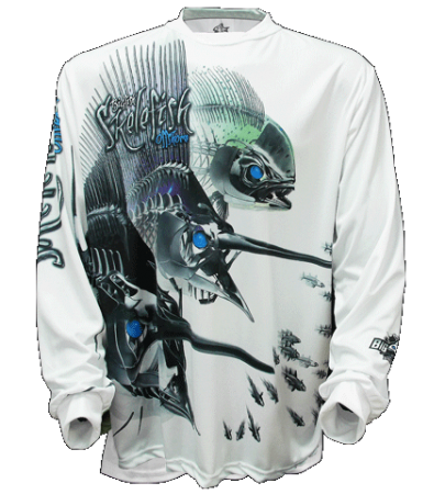 Big Fish Skelefish Offshore Fishing Shirt