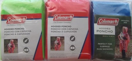 Coleman Emergency Poncho Rainwear