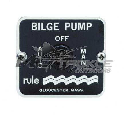 Rule Bilge Off / Auto / Man Panel Switch