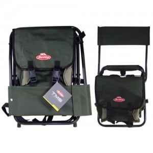 Berkley TMS Folding Stool w/ Back Rest & Tackle Storage