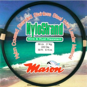 Mason NyloStrand Stainless Wire Leader Material - 210lb 100ft