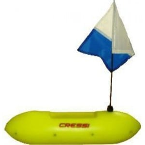Cressi 10L Rigid Float With Flag
