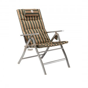 Coleman Flat Fold 5 Position Padded Chair w/ Glassp