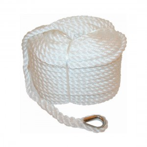 RWB Marine Silver Rope - Hank Spliced