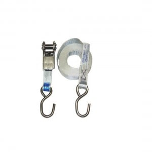 Just Straps Stainless Steel Light Duty Ratchet Strap - 25mm x 4.3m