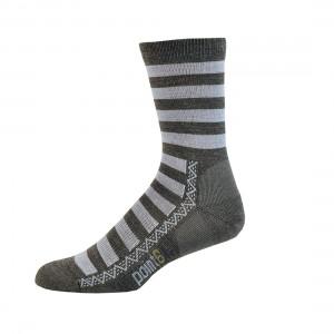 Point 6 Multi Stripe Light Crew Socks