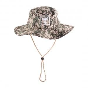 Jackall Digital Camo/White Wide Brim Hat