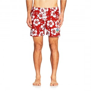 Okanui Hibiscus Red Short Shorts