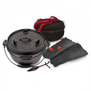 Campfire Pioneer Duo Lid Cast Iron Duo Camp Oven Set