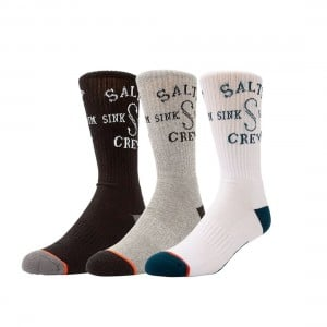 Salty Crew S-Hook Sock 3-Pack