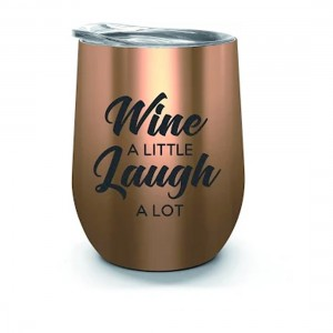 Oztrail Double Wall Stainless Tumbler - Wine Laugh