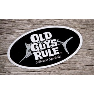 Old Guys Rule Saltwater Specialist Decal - Black