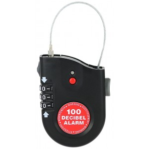 Lock Alarm Cable Lock w/ Screaming Alarm