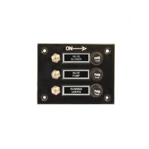 RWB Marine 3 Gang Switch Panel Standard - 12/24V