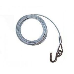 Easterner Galvanized Winch Wire & Hook - 5mm x 8m