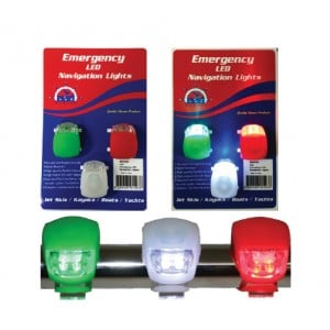 RWB Marine Emergency LED Navigation Lights - 3 Set