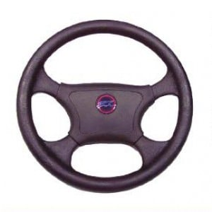 Multiflex Marine Steering Wheel - 4 Spoke 345mm Thermo Plastic - Black