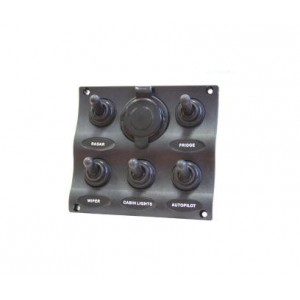 Easterner C91341 Water Resistant 5 Gang Switch Panel w/ Socket