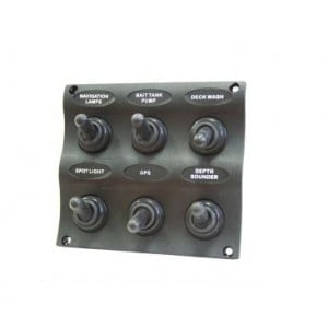 Easterner C91342 Water Resistant 6 Gang Switch Panel