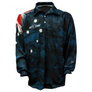 Big Fish Aussie Pride True Blue Fishing Shirt