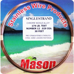 Mason Single Strand Leader Wire - 30ft
