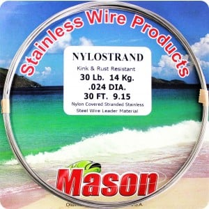 Mason NyloStrand Stainless Wire Leader Material - 30ft