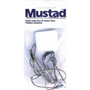Mustad Deluxe Ganged Hook Swivel - 3 Sets