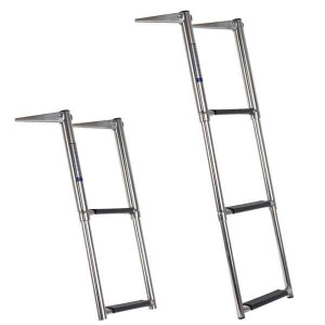 Ocean South Stainless Steel Telescopic Ladder