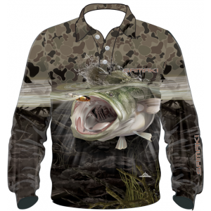 Samaki Camo Cod Long Sleeve Shirt - Kids