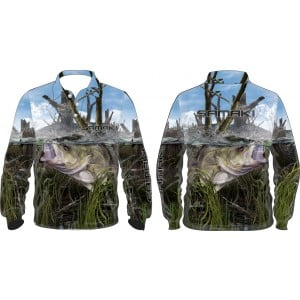 Samaki Aussie Bass Long Sleeve Shirt - Kids
