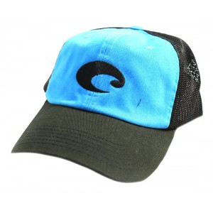 Costa Stretch Trucker Cap - Black / Blue