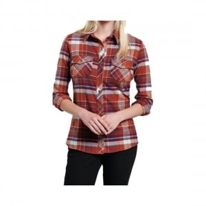 Kuhl Womens Greta Flannel Long Sleeve Shirt