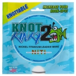 Knot 2 Kinky Titanium Leader Wire - 15ft