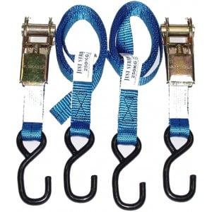 Just Straps Transom Light Duty Ratchet Hook to Hook Strap - 25mm x 1.5m