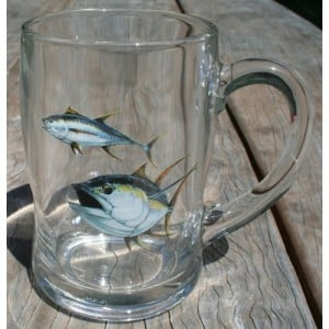 Ross Art Glass Beer Mugs - 2 Set
