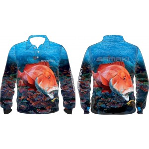 Samaki Red Emperor Long Sleeve Shirt - Kids
