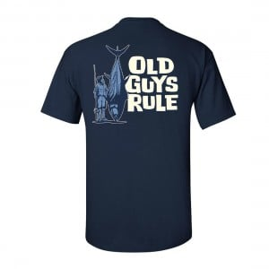 Old Guys Rule Size Matters Big Fish Tee