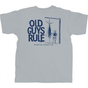 Old Guys Rule Trophy Guy Sport Tee