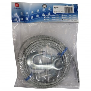 Easterner Galvanized Winch Wire & Snap Hook - 5mm x 7.6m