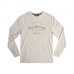 Desolve Bow Front Design Long Sleeve Tee