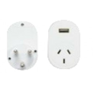 OSA Brands South Africa & India Travel Adaptor w/ USB