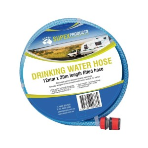 Supex 20m Coil Drinking Water Hose incl. Fittings