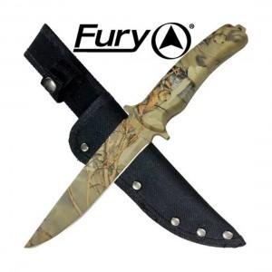 Fury Woodland Camouflage Hunting Knife