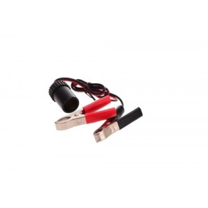 Oztrail 12V Extension Lead w/ Battery Clamp Outlet x 1