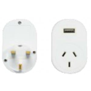 OSA Brands UK Travel Adaptor w/ USB