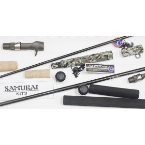 Samurai Spin Rod Building Kit - Components + Blank