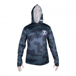 Jackall Camo Hooded Long Sleeve Shirt