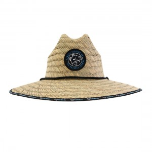 Samaki Barramundi Patch Straw Hat