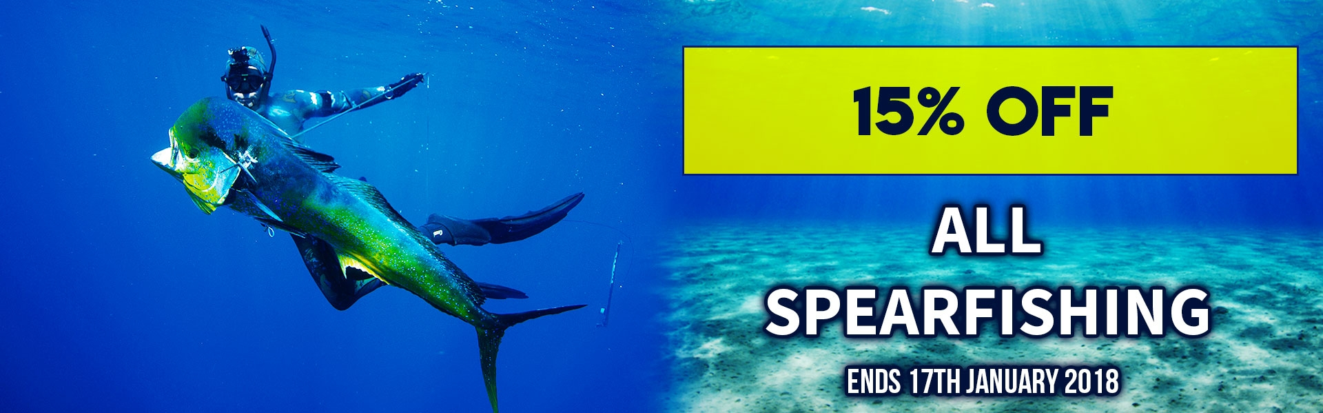 15% off Spearfishing